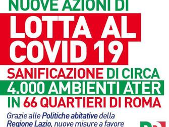 Lotta al COVID-19: grazie alla Regione Lazio al via sanificazione e consegna porta a porta della spe