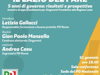 Il Lazio del fare. 5 anni di governo: risultati e prospettive