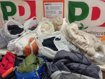 Emergenza freddo: Il PD Roma organizza raccolta coperte per le persone senza dimora.