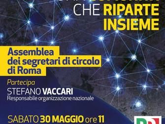 Una comunità che riparte insieme: assemblea dei segretari di circolo di Roma con Stefano Vaccari
