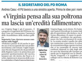 Oltre il fallimento Raggi il nostro impegno per Roma e per i romani nella mia intervista a Il Tempo