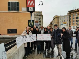 Metro Barberini: 300 giorni di chiusura sono una vergogna mondiale!