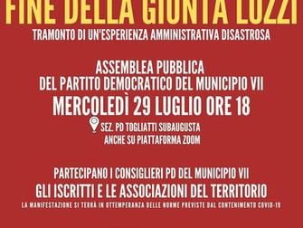 Oltre la fine della Giunta Lozzi tutti al lavoro per il VII Municipio e per Roma