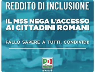 Reddito di Inclusione il M5S nega l'accesso ai cittadini romani