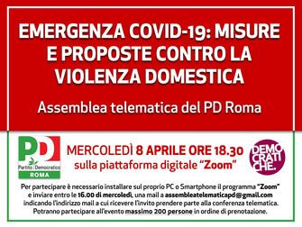Emergenza COVID -19: misure e proposte contro la violenza domestica