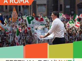 """""""Tutta un'altra Roma"""" con Matteo Renzi, Giovedì 14 al Festival dell'Unità!"""