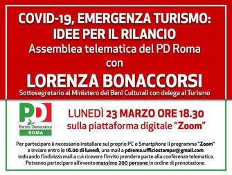COVID - 19 emergenza turismo: idee per il rilancio con la sottosegretaria Lorenza Bonaccorsi