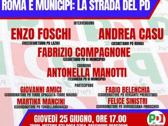 Roma e Municipi: la strada del PD. Assemblea telematica PD VI Municipio