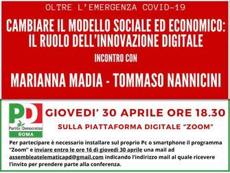 Oltre l'emergenza COVID 19 cambiare modello sociale ed economico: il ruolo dell'innovazione digitale