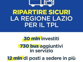 Ripartire sicuri: la Regione Lazio per il TPL