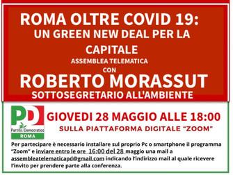 Roma oltre COVID 19: un Green New Deal per la Capitale assemblea telematica con Roberto Morassut
