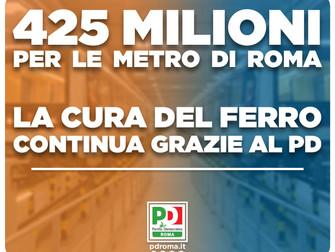 Dal governo 1,856 miliardi di euro per la cura del ferro a Roma