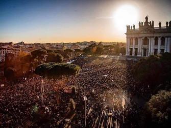 Roma non abbocca all'odio: viva i Partigiani del nuovo secolo!