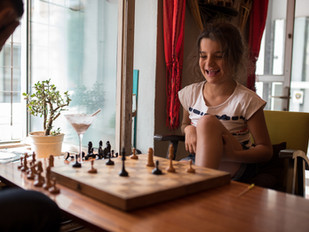 Happiness is playing Chess