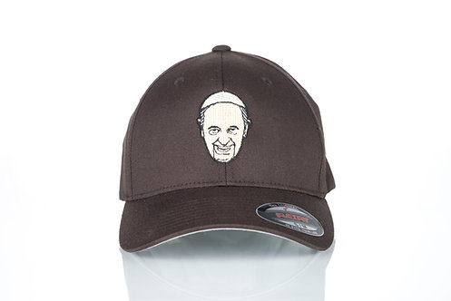 Cap Flexfit original Viseucaps. Castanho, Papa Francisco Bordado