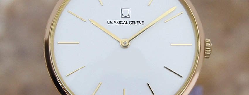 Universal Geneve Golden Shadow 18k Gold Watch - Men's Watch