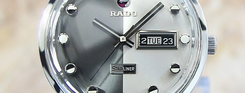 Rado Starliner Daymaster Vintage Auto Swiss Made 1960 Watch