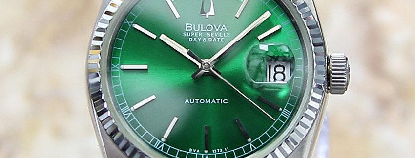 Bulova Super Seville 1980 Men's Watch - Green Dial