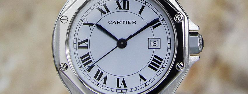 Unisex Cartier Santos Stainless Steel  Men's Watch