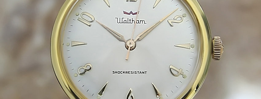 Waltham Swiss Made 1960 Gold Filled Luxury Manual Vintage Watch