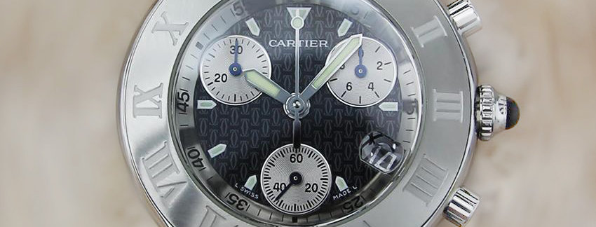 Stainless steel Cartier 21 Chronograph Men's Watch