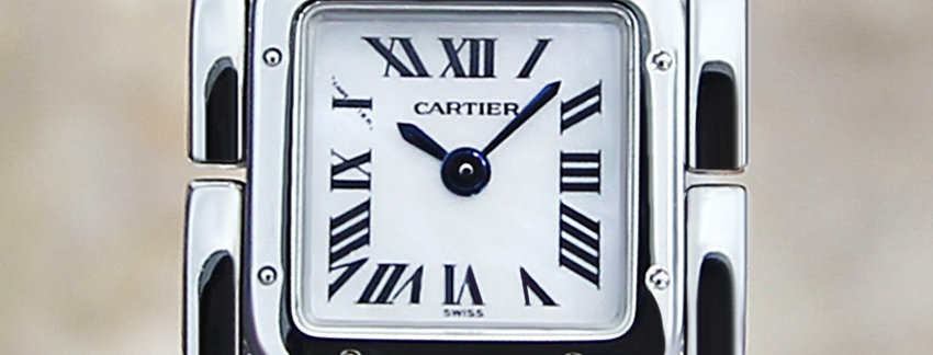 White Cartier Ruban 2420 Ladies Luxury Watch