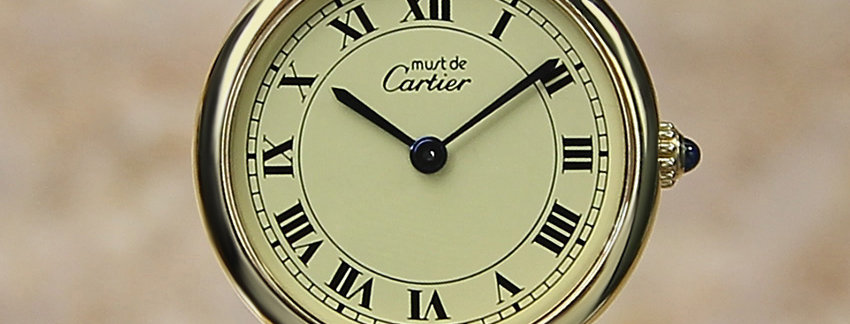 Must De Cartier Vermeil  Ladies Watch