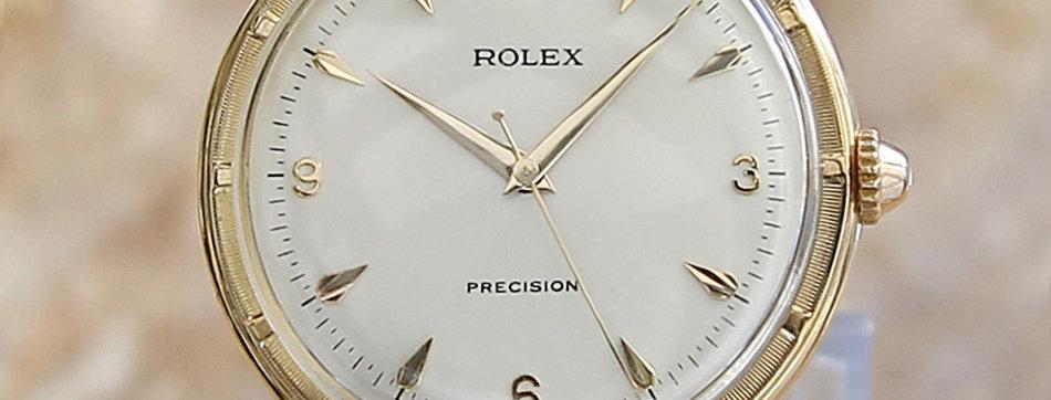 Rolex 8952 18k Gold Men's 1950s Very Rare 36mm Watch