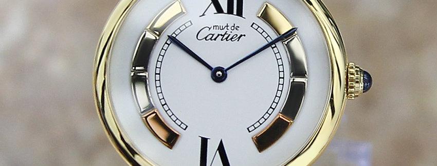 Unisex  Cartier Must De Trinity 925 Silver Luxury Watch