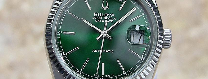 Green Dial Bulova Super Seville  Men's Watch