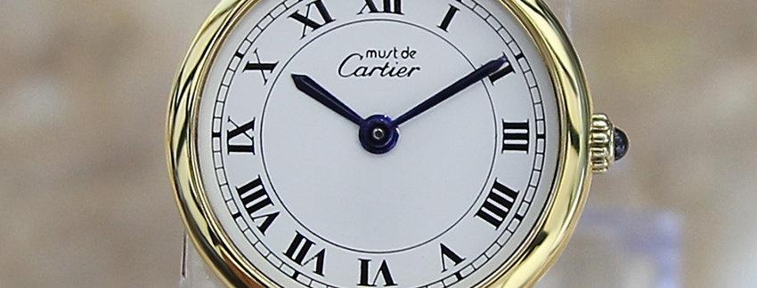Cartier Must De Vermeil 24mm  Lady's Watch