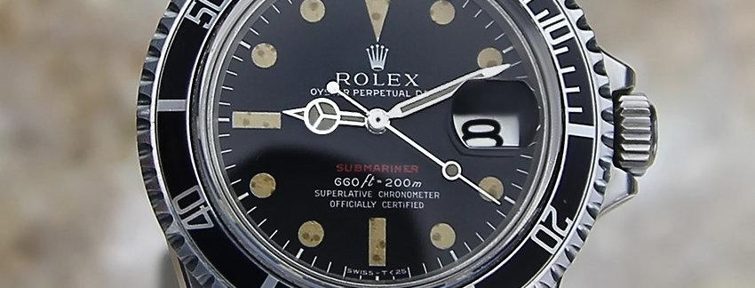 Rolex Red Submariner 1680  Men's Watch