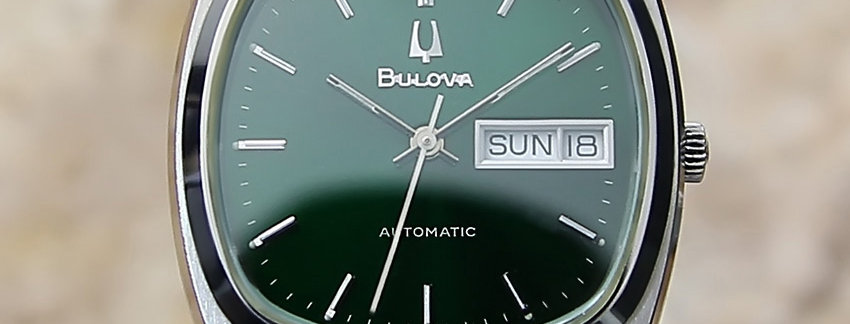 1980s Bulova Day Date 34mm  Men's Dress Watch