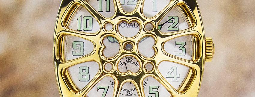 Movado 18K Gold 1913-1993 Military  Men's Watch