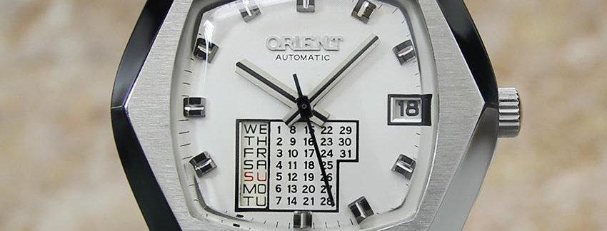 Orient Calendar Japanese Men's Sports Watch