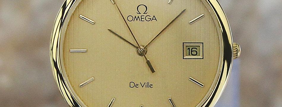 Omega DeVille Men's 33mm Gold-Plated Watch