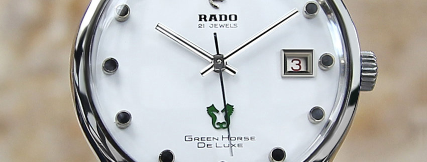Rado Green Horse De Luxe Vintage Watch