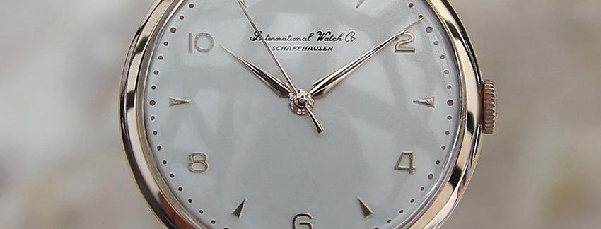 IWC 18k Rose Gold Rare Vintage Watch