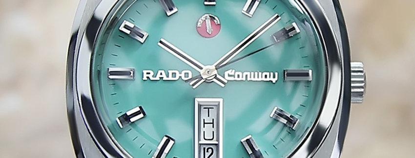 1970 Rado Conway 36mm Men's Watch
