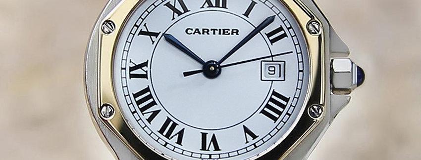 Cartier Santos 18k Gold & Stainless steel  Men's Watch