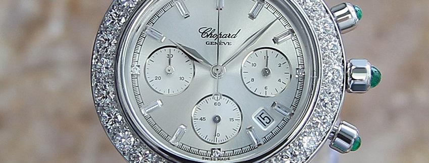 Chopard Imperiale 18k White Gold Diamond Emerald  Men's Watch