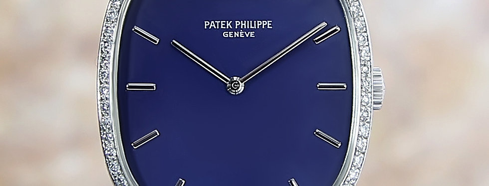 Patek Philippe Golden Ellipse 18k White Gold Diamond 1972 Watch
