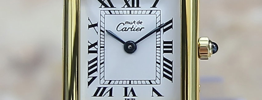 Must de Cartier Tank Vermeil Ladies Watch