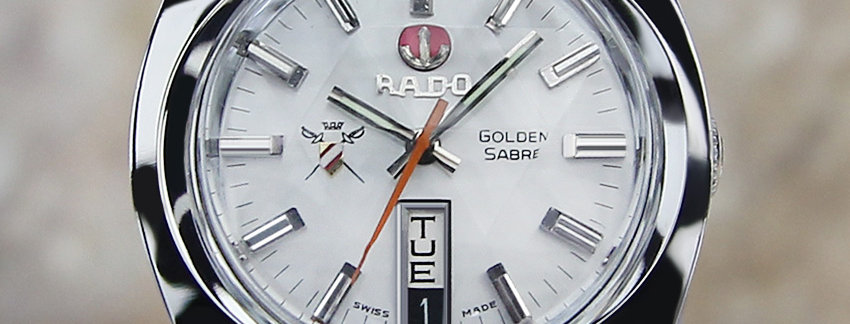 Rado Golden Sabre 37mm Vintage Watch