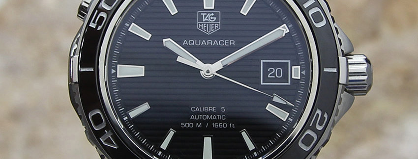 TAG Heuer Aquaracer Calibre 5 Watch | WatchArtExchange