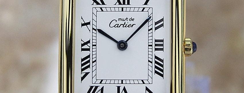 Must de Cartier Tank Vermeil Men's Watch