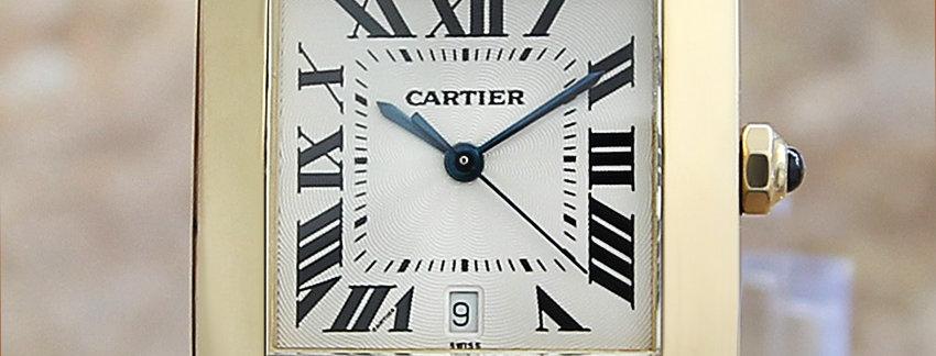 Solid 18k Gold Cartier Tank Francaise 1840 Men's Watch