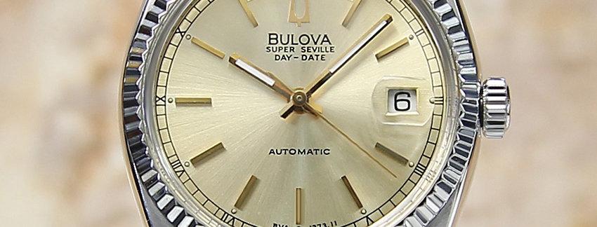 1980 Bulova Super Seville Men's Watch - Golden DIal