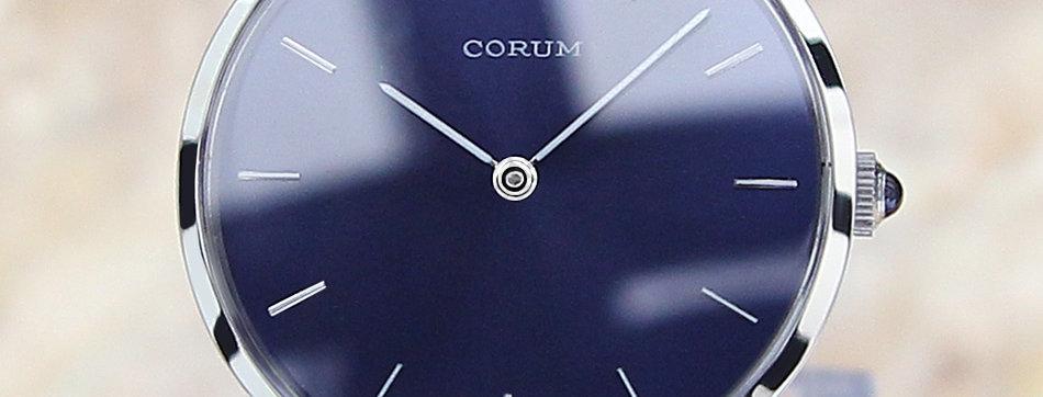 Corum 57219 Rare Mens Swiss Luxury SS Manual 1970 Watch