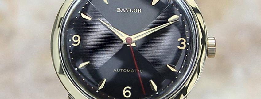 1960s Black Baylor  Men's Dress Watch